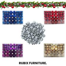 Christmas Baubles Set Hanging Xmas Ball Decorations 100pcs/36pcs/24pcs/12pcs UK