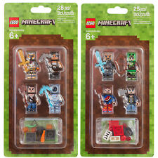 Lego New Sealed Set Lot Minecraft Skin Pack x2 8 Minifigure Lot 853609 853610
