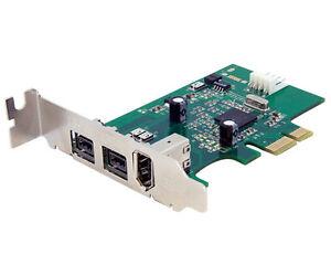 StarTech PEX1394B3LP 3-port 2b 1a LP 1394 PCI Express FireWire Card