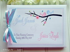 PERSONALISED *TWINS* BABY NAMING DAY/ CHRISTENING*GUEST BOOK / SCRAPBOOK ALBUM