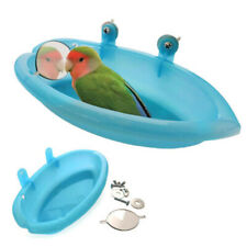 Toys Mounted With Mirror Bird Cage Accessories  Parrot Bathtub Bath Shower Box
