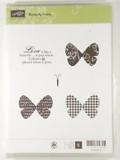 Stampin Up Retired BUTTERFLY PRINTS Stamp Set Love Artistic Card Craft Scrapbook