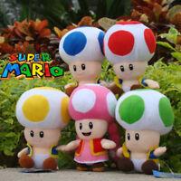5PCS Super Mario Bros Run Plush Toy Mushroom Toadette Toad Stuffed Animal Doll