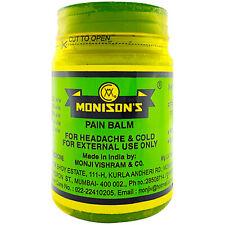 2 × Monisons Ayurvedic Herbal Headache Cold Massage Muscle Pain Relief 100 g