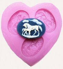 Horse with Colt 3 Cavity Mini Silicone Mold