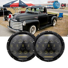"Pair 7"" Inch Led Headlight DRL Light Bulbs Lamp For 1947-1957 CHEVY GMC PICKUP"