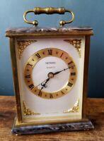 Vintage Heavy Metamec Mantle Clock - Brass - Quartz - German Movement (Kundo)