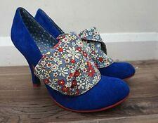 Irregular Choice Flick Flack Zapatos Tacones azul floral-tamaño 40 (UK 7)