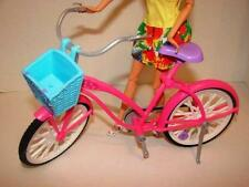 Mattel~ Barbie Doll Size~Bicycle~Pink with Kick Stand~Basket~Biking Fun~Bike~