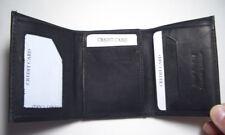 100% Genuine Leather - Men's Wallet Tri-Fold - Black (New Style !!!)