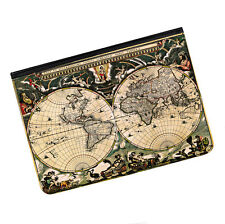 "Vintage Old World Map #1 Universal Tablet 9-10.1"" Leather Flip Case Cover"