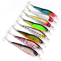 NE_ 1 Pc Hard Metal Fishing Lures Small Minnow Lure Bass Crank Bait Tackle Hooks