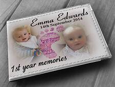 ALBUM fotografico PERSONALIZZATO 6x4, PHOTO BOOK, Baby 1st regalo di compleanno.