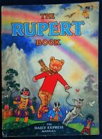 VINTAGE ORIGINAL 1948 RUPERT BEAR ANNUAL, PRICE UNCLIPPED 4/-, UNSCRIBED