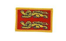 Bandiera patch toppe toppa ricamata normandia backpack termoadesivo  francia
