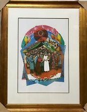 "AMRAM EBGI ""CHUPA WEDDING"" H/S AP SILVER FOILED LITHOGRAPH ON PAPER FRAMED COA"