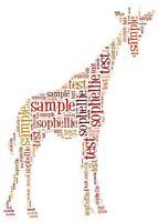 Giraffe Word Art Mug Present Zoo Birthday Gift