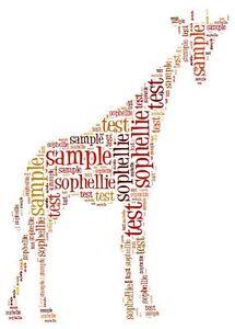 Giraffe Word Art Present Zoo Birthday Gift