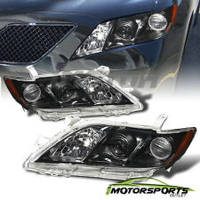 2007 2008 2009 Toyota Camry Black Factory Style Projector Headlights Pair