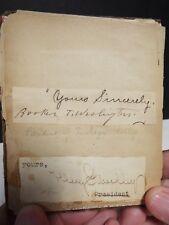 19th Century Autograph Album - Many Preachers, Booker T. Washington