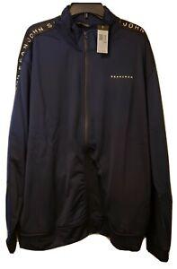 New Sean John Track Jacket sz..5xl Big Navy with Black trim & Sean John in white