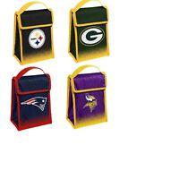 NFL Football Team Logo Gradient Hook & Loop Cooler Lunch Bag - Pick Team