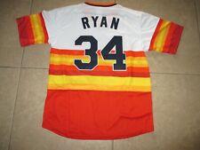 New!!!! Nolan Ryan 1980 Houston Astros #34 Orange Rainbow Retro Pull-over Medium