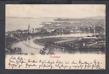 NORWAY 1906 VIEW OF TRONDHJEM POSTCARD AANDALS TO NETSTAL SWITZERLAND