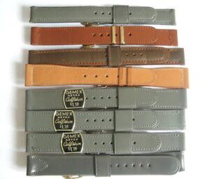 Vintage GEMEX 1940s 1950s LOT of 8 Calfskin Saddle Cordovan Watch Strap Bands A+