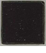 100 - 3/8 inch Black Vitreous Glass Mosaic Tiles