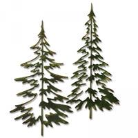 SIZZIX / TIM HOLTZ THINLITS CUTTING DIES - WOODLANDS 660978 TREES
