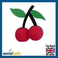 SALE... Cherry Red Cherries Car Aerial Ball Antenna Topper
