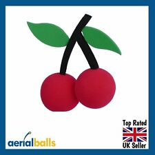 SALE... Cherry Red Cherries Car Aerial Ball Antenna Topper