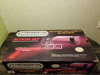 Nintendo NES Action Set Console Complete In Box CIB