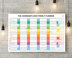Personalised 2021 Wall Planner 580mm x 870mm - Any Month Start Date