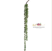 """String of Pearls 28"""" Succulent Pick Faux Hanging Trailing Artificial Greenery"""