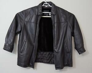 Tanners Avenue Lambskin Leather Jacket Black Men's 5XL
