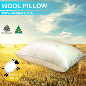 Aus Made New Wool Pillow Anti-Mite Feather/Down/Latex/Memory Altern