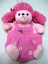Pink Poodle Plush Backpack