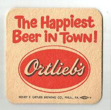 12 Ortlieb's The Happiest Beer In Town  Beer Coasters
