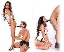 Museruola morso o ring con doppio DILDO  gag ball slave cinturino sex toy bocca