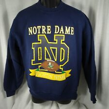 Vintage Norte Dame Sweatshirt Sz L Fighting Irish Russell USA Cotton Blend