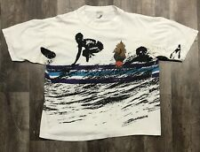 New listing Vintage Ocen Pacific All Over Print T-shirt Sz L 1993 Surf Skate