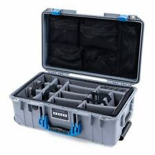 Silver & Blue Pelican 1535 Air case. With Grey CVPKG dividers & lid organizer.