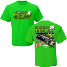 Chase Elliott #9 Mtn Dew Zero Sugar Checkered Flag Nascar Green Tee Adult XXL