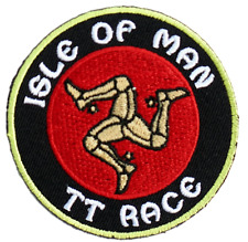 Isle Of Man Motorbike Racing TT Race Moto GP Iron On Embroidered Shirt Patch
