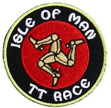 Isle Of Man Motorbike Racing TT Race Moto GP Iron On Embroidered Shirt Patch