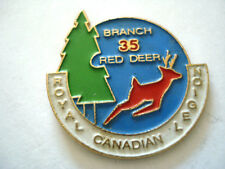 PINS RARE BRANCH 35 RED DEER ROYAL CANADIAN REGION CERF BICHE
