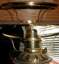 "10"" BRASS SHADE HOLDER CENTRAL DRAFT RAYO oil lamp glass UBM"