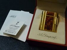 "S T Dupont ""SOUBRENY"" Lighter, Laque de Chine with 18k Gold plated Trim-Stunning"